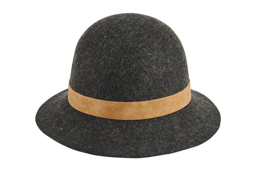 San Diego Hat Company: Women's wool felt cloche with leather band