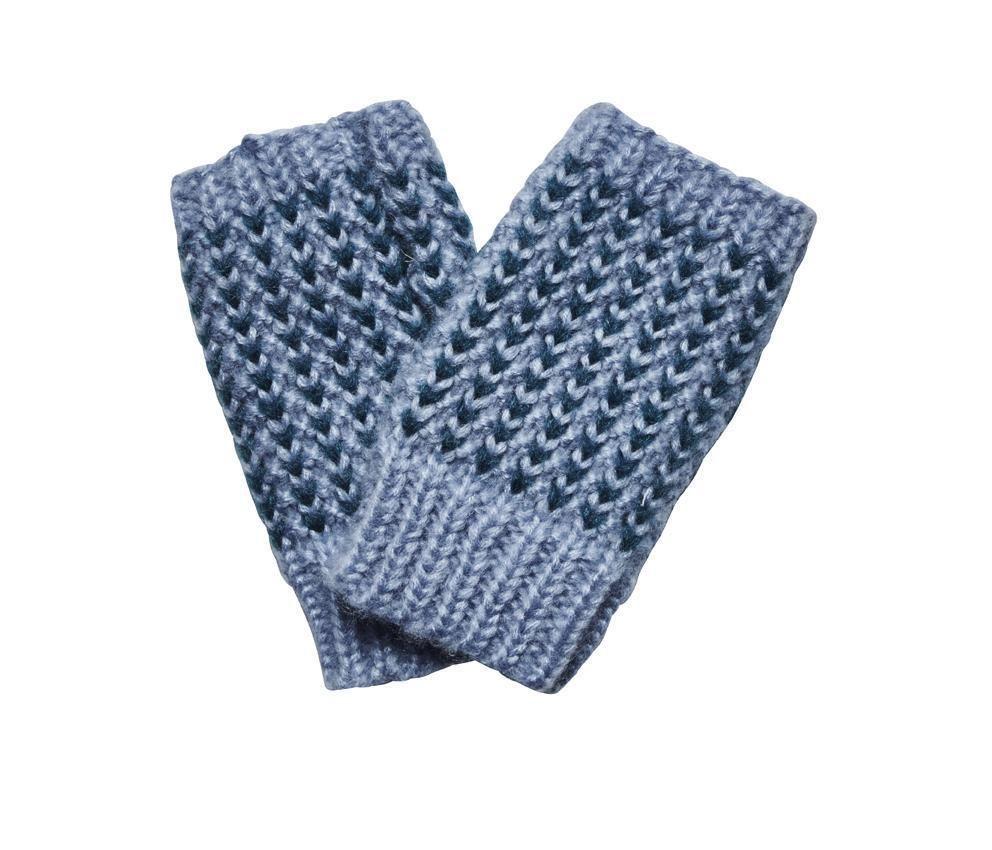 San Diego Hat Company: Women's contrast heart pattern crochet fingerless gl