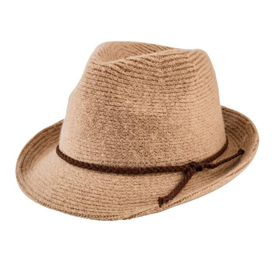 San Diego Hat Company: Women's Knit Fedora With Faux Suede Band