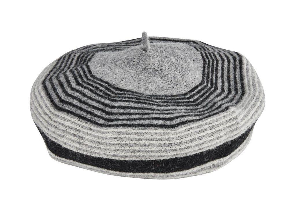 San Diego Hat Company: Women's striped pattern knit beret
