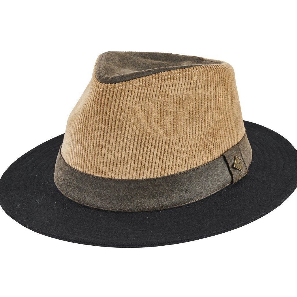 San Diego HC : Men's fedora with faux suede band