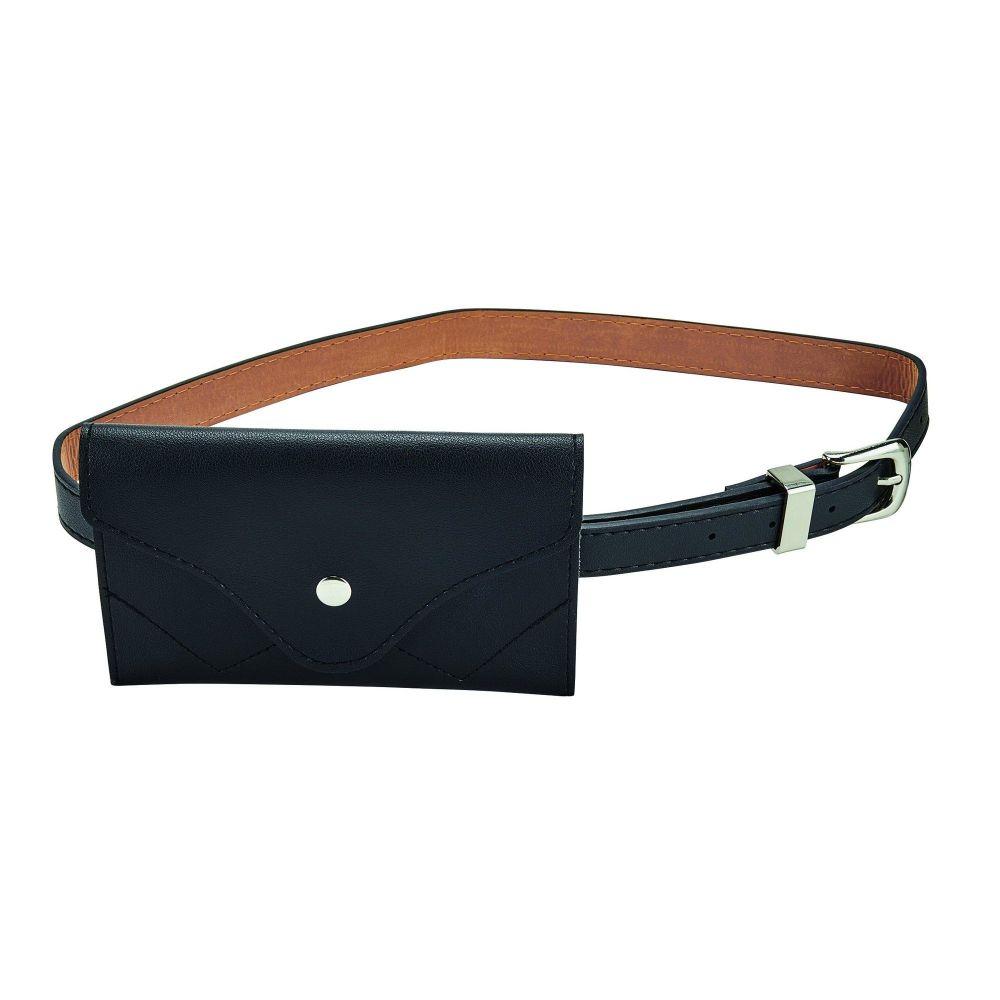 Women's envelope faux leather waist pouch