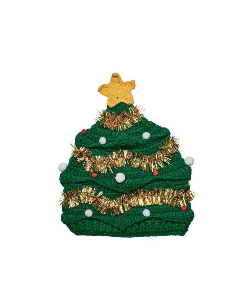 San Diego Hat Company: Crochet Knit Beanie with Decorative Garland&Pom ornaments