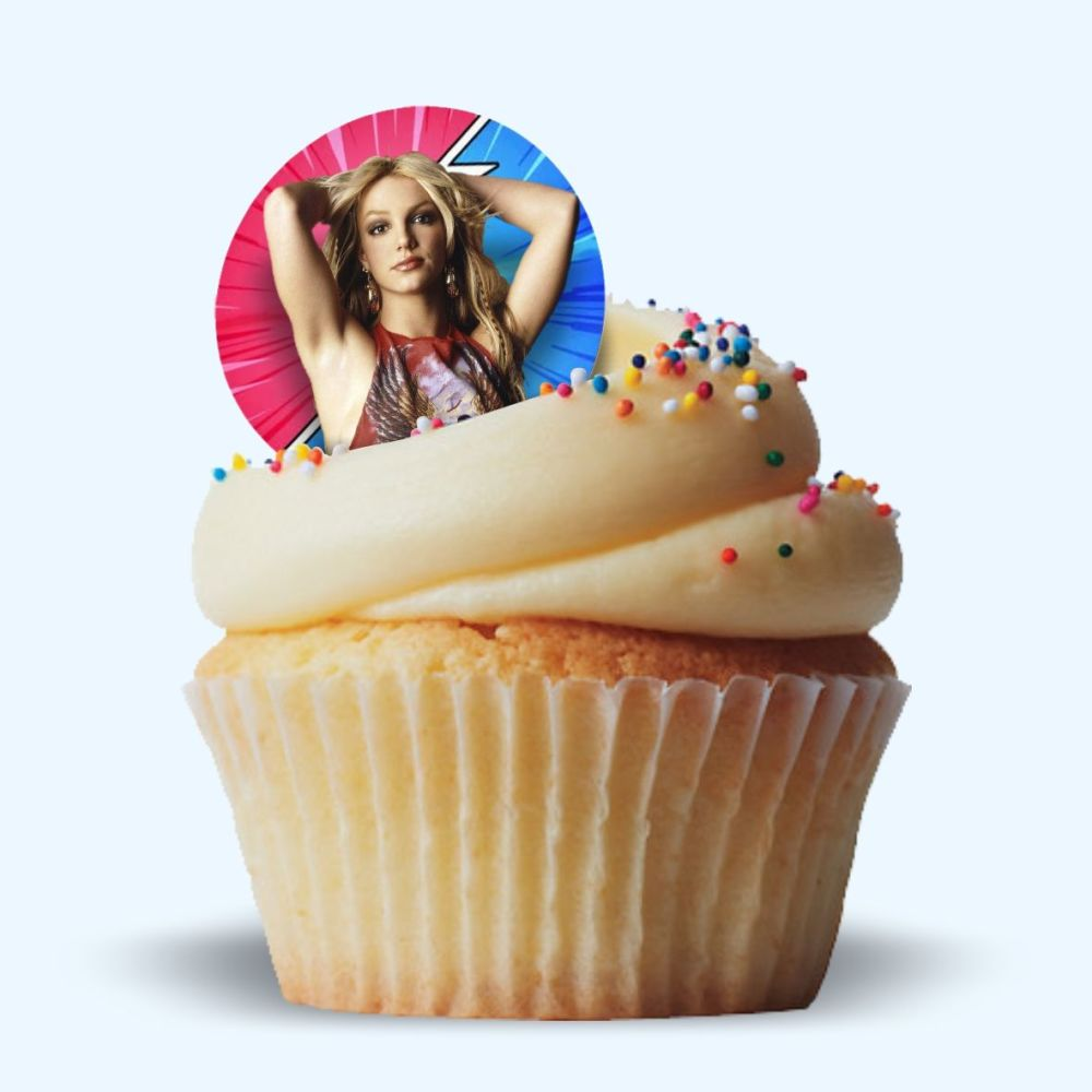 Edible Cake Toppers.  Britney Spears!