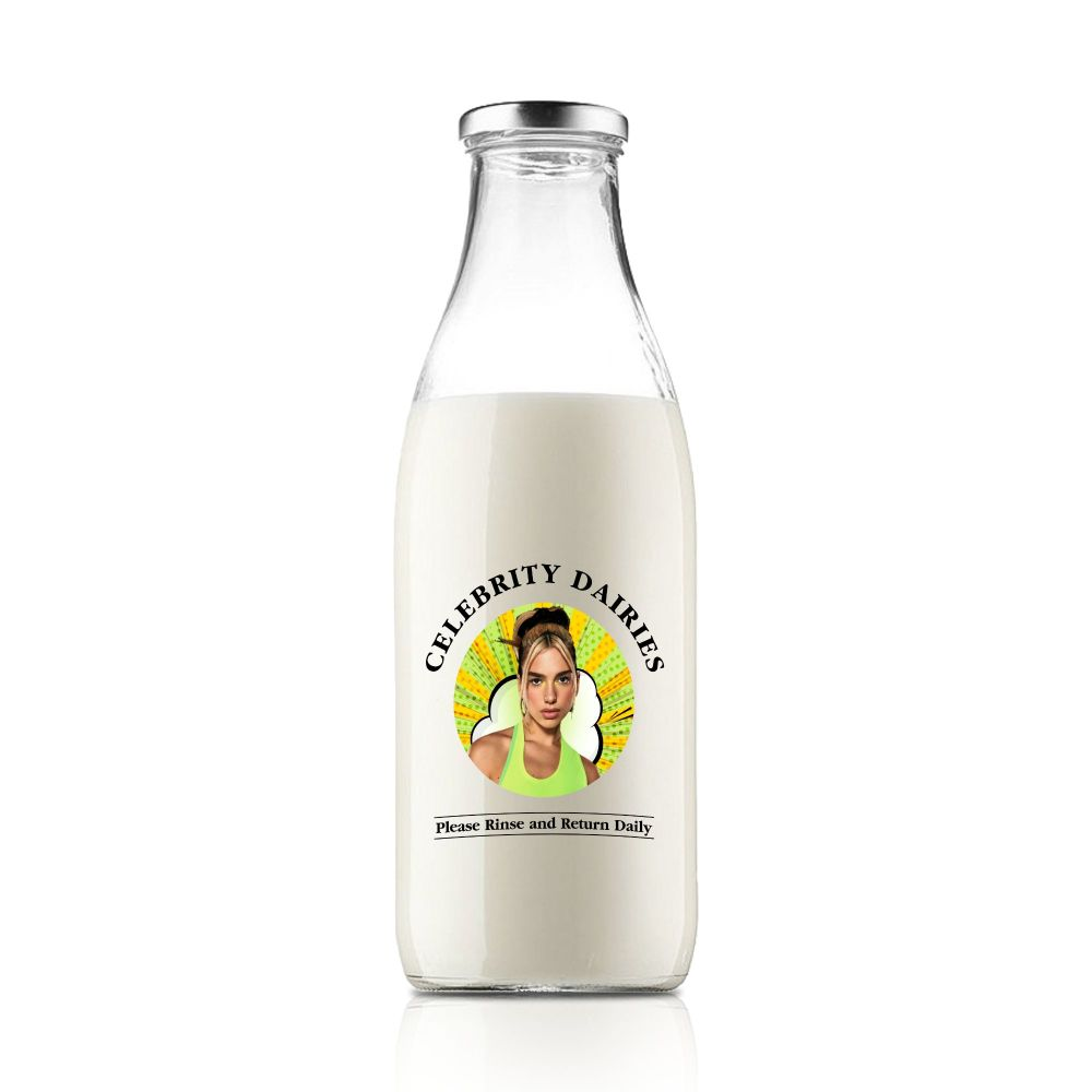 The Dua Lipa Celebrity Milk Bottle