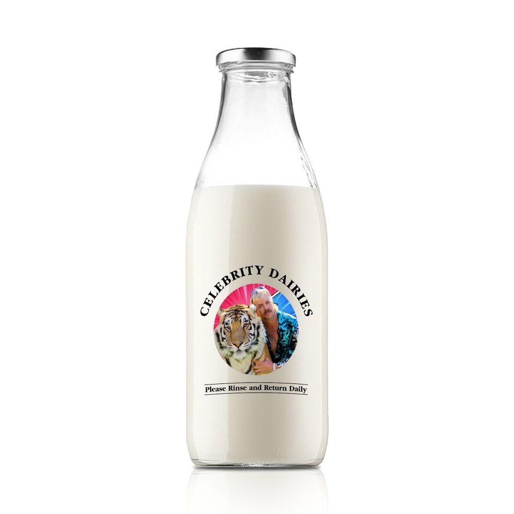 The Tiger King Celebrity Milk Bottle