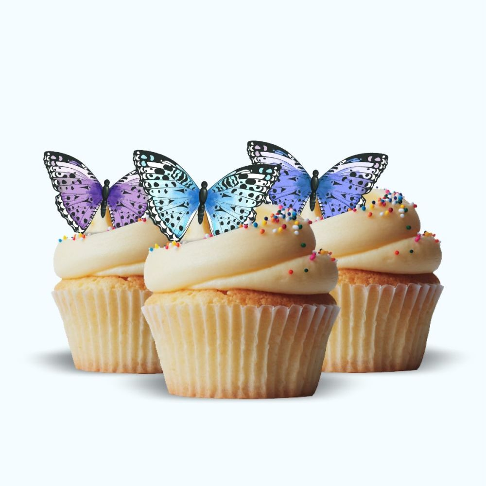 Edible Wafer Butterfly Cupcake Toppers