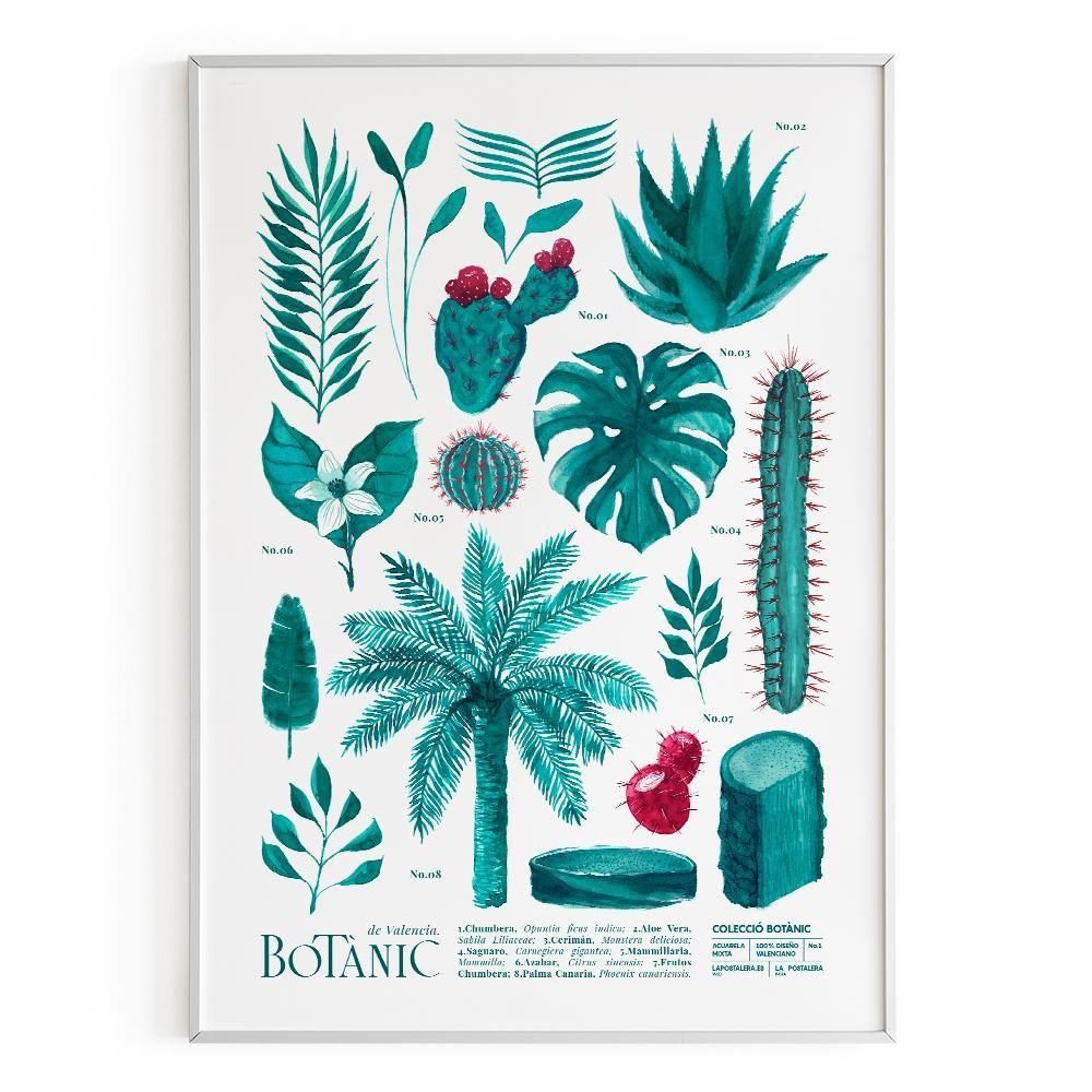 La Postalera: Botanical Poster of Valencia -  A4 size
