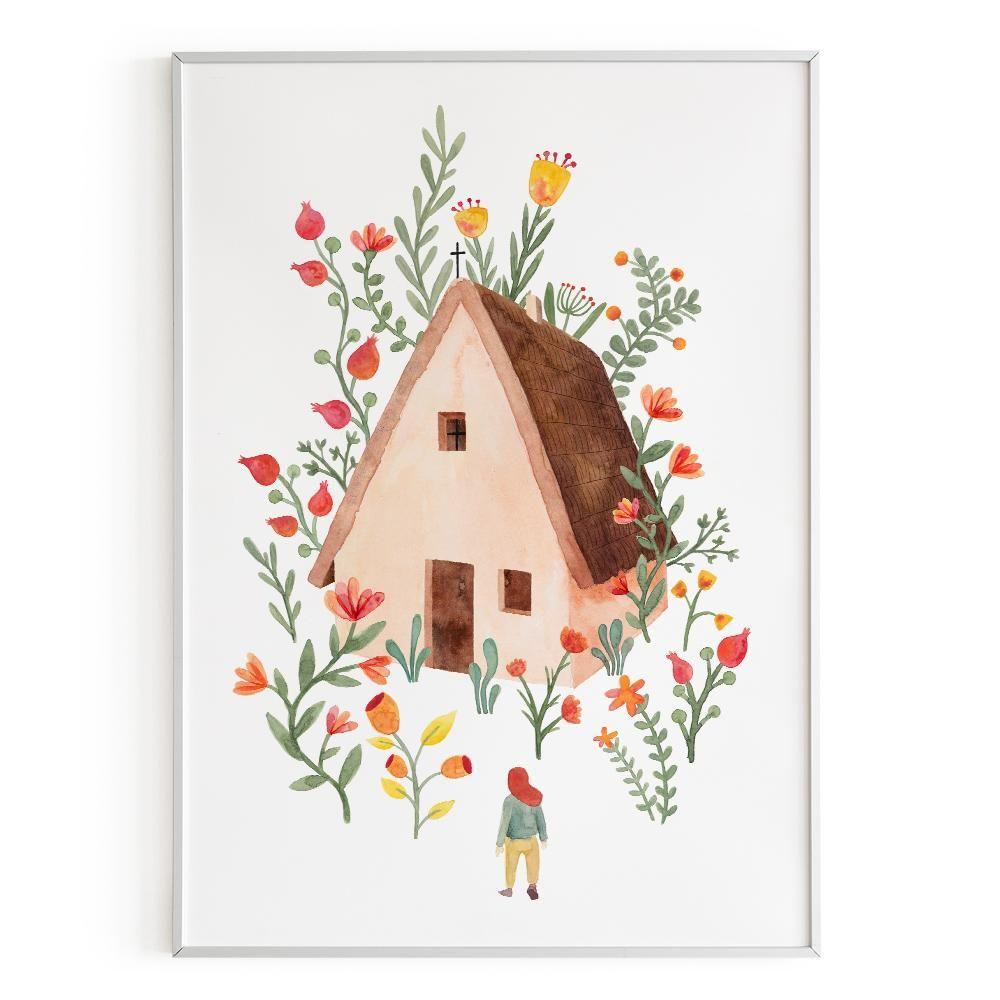 La Postalera : Art Poster.  Traditional House Of  Valencia Poster
