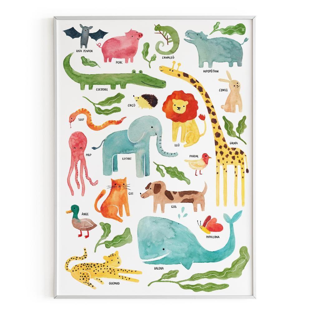 La Postalera : Art Poster. The Animals of Valencia Poster