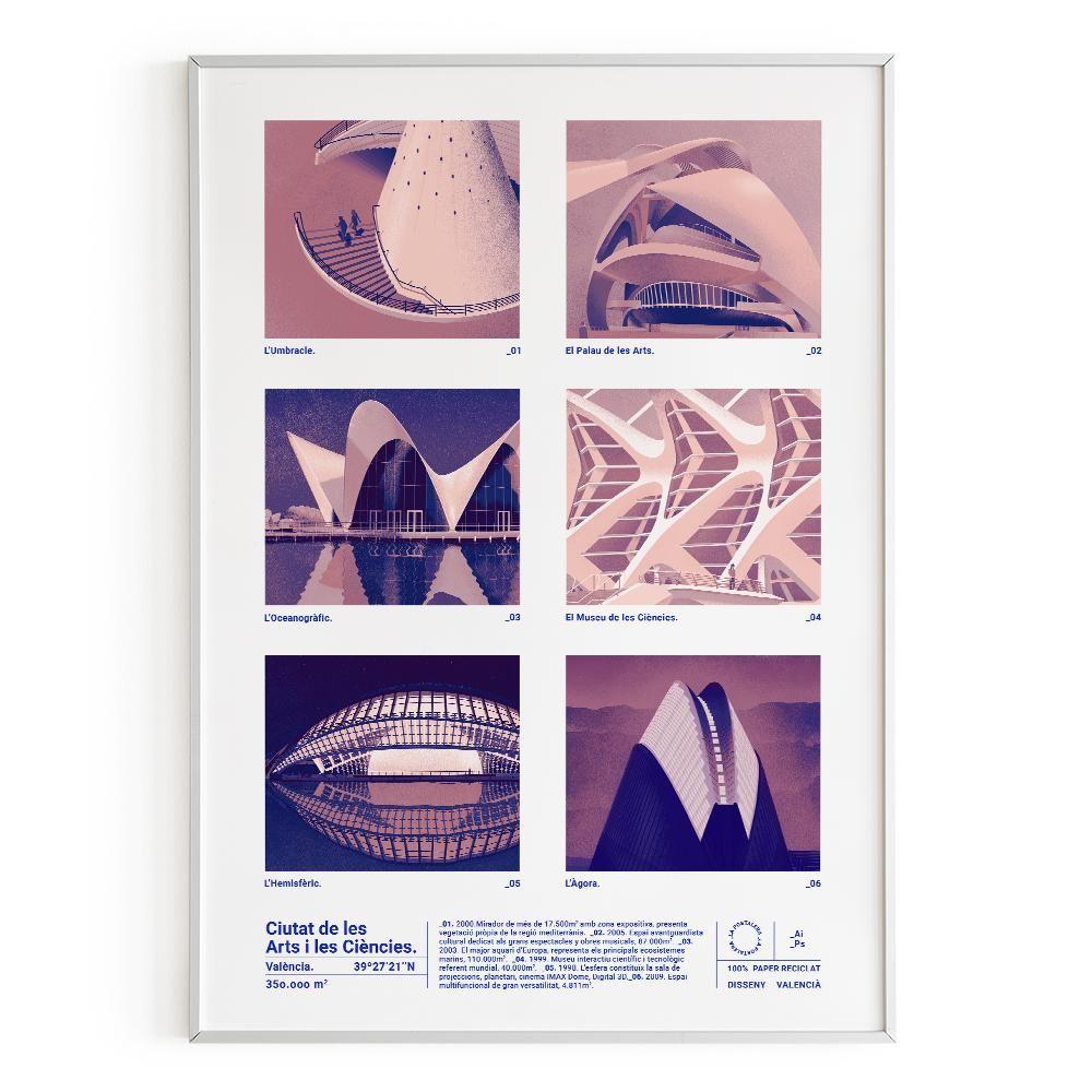 La Postalera : Art Poster. City of Sciences and Art