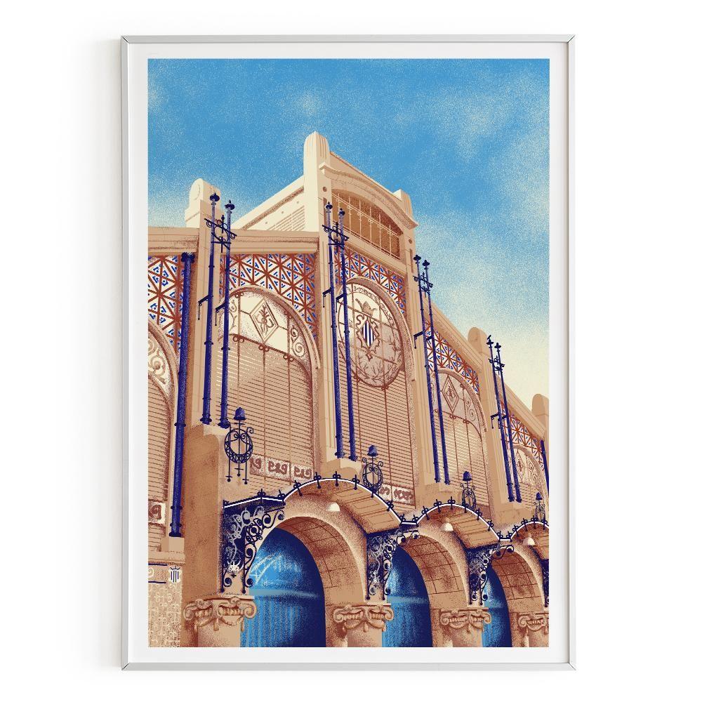 La Postalera: Central Market of Valencia Poster -  A4 size