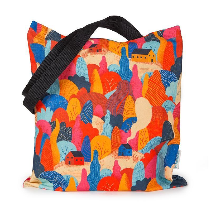 """La Postalera: Full Printed Tote Bag """"Into the woods"""""""