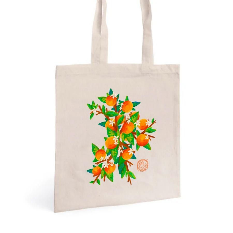 La Postalera: Tote Bag with Valencia oranges