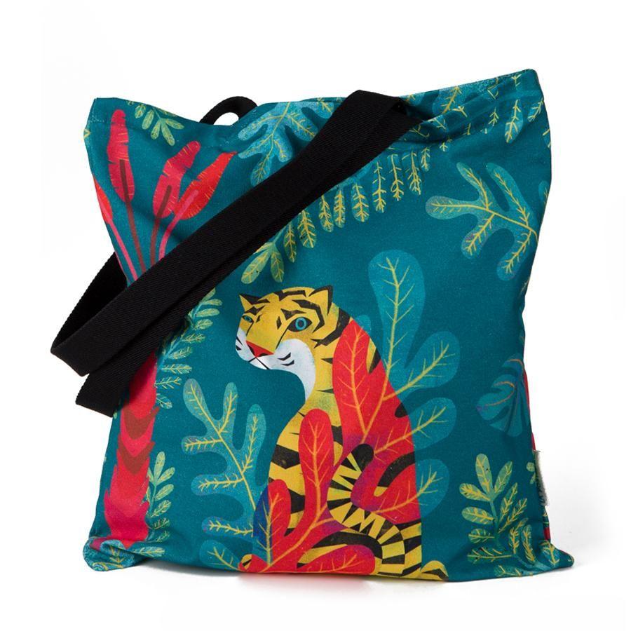 """La Postalera: Full Printed Tote Bag """"Wild"""""""
