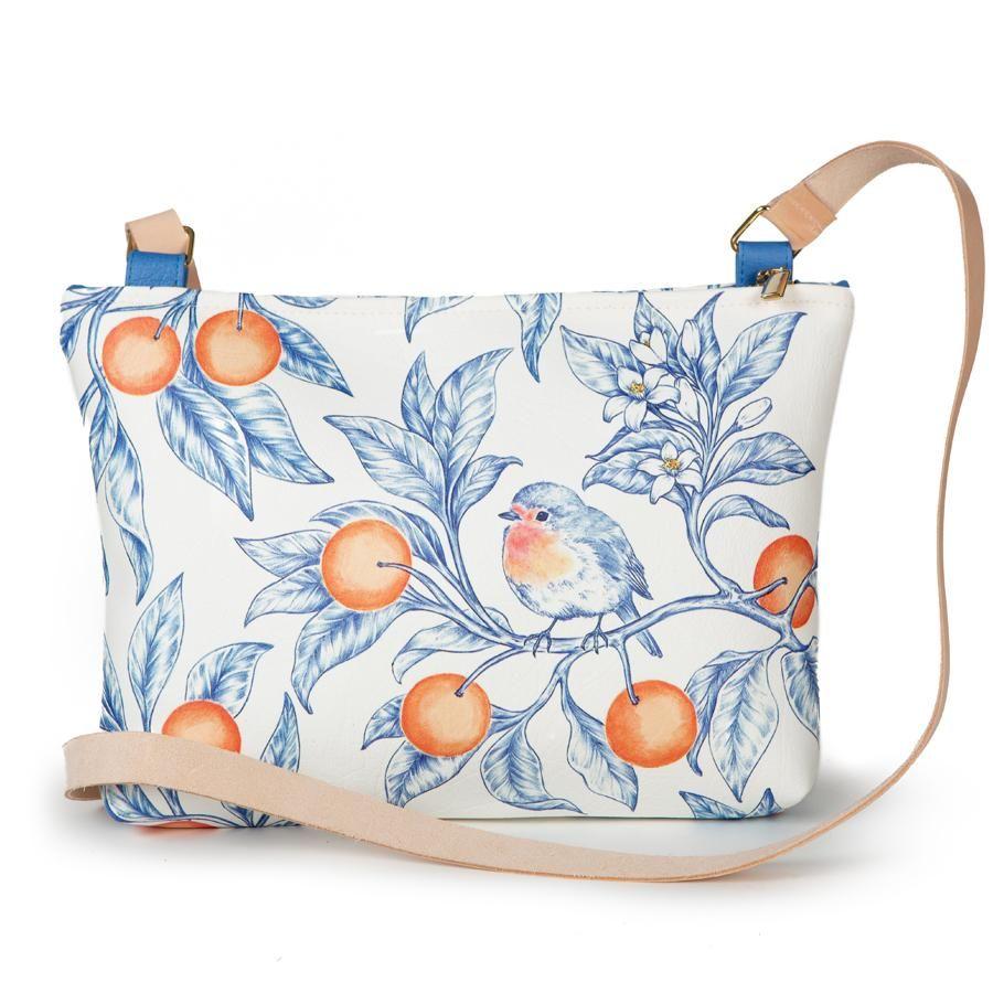 La Postalera: Large bag Bird with Oranges design