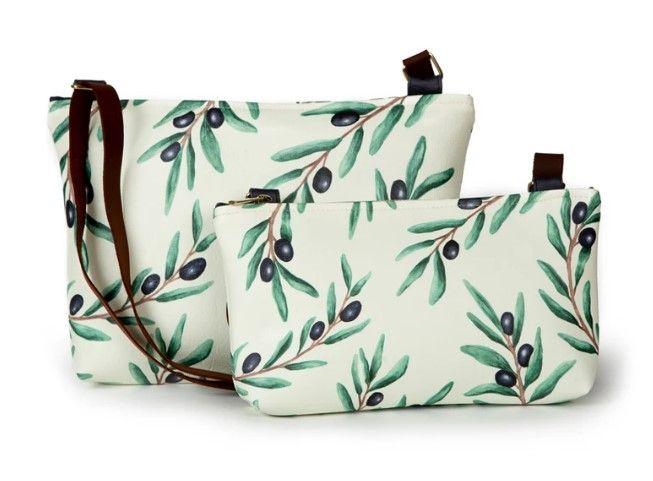 La Postalera: Printed Bag with Olive leaves design
