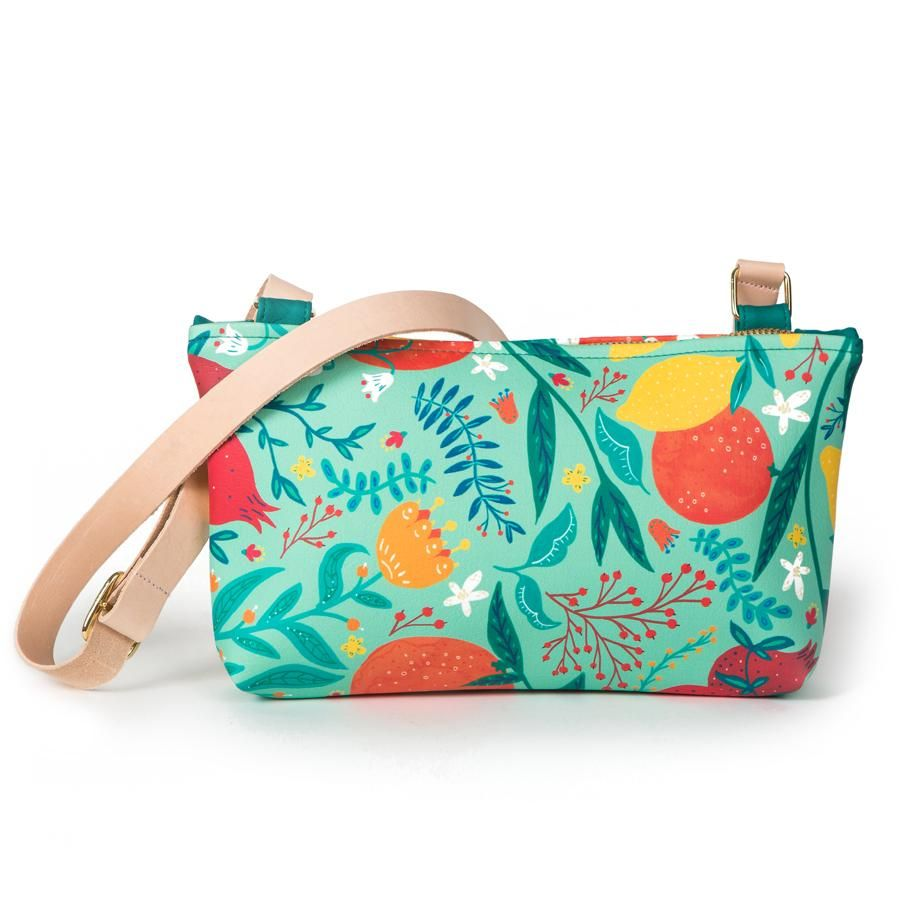La Postalera: Small bag Flowers and Oranges design
