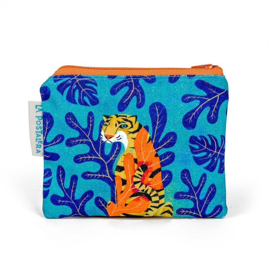 La Postalera: Printed Purse - Tiger