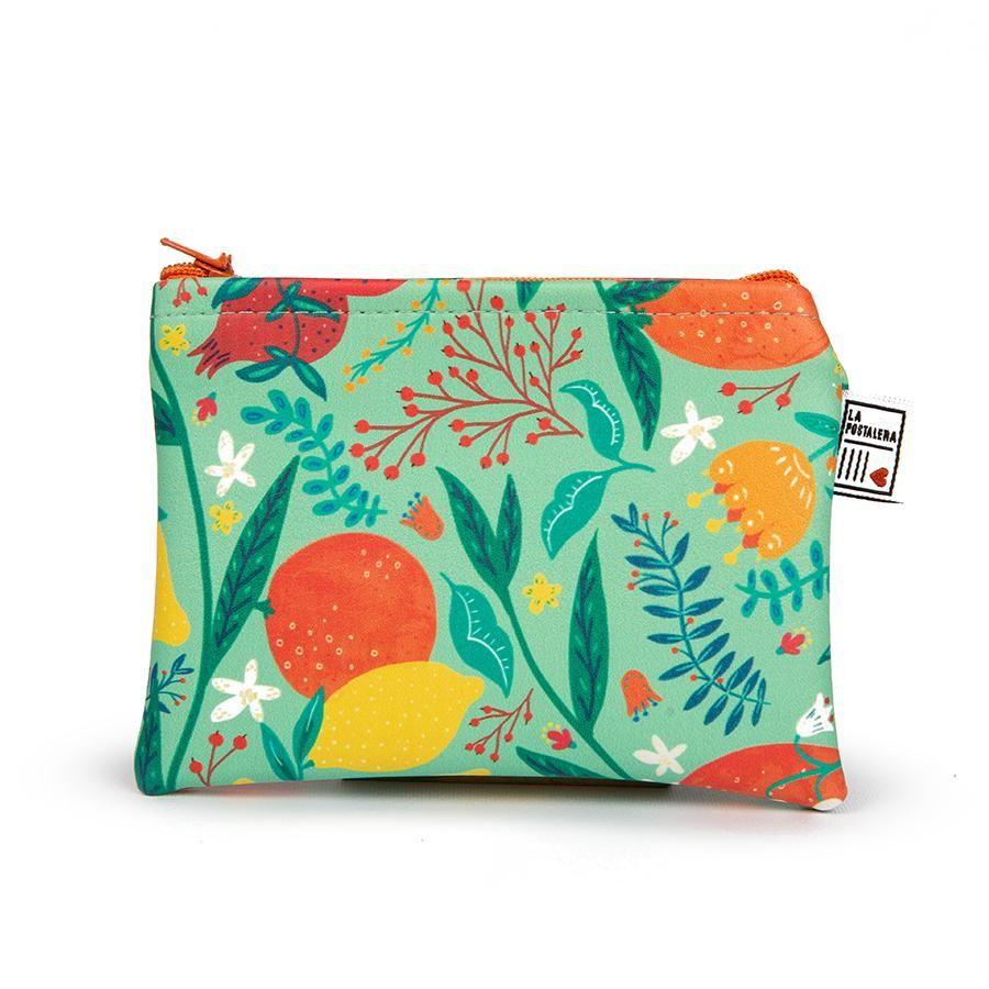 La Postalera: Eco-leather purse with fruit design