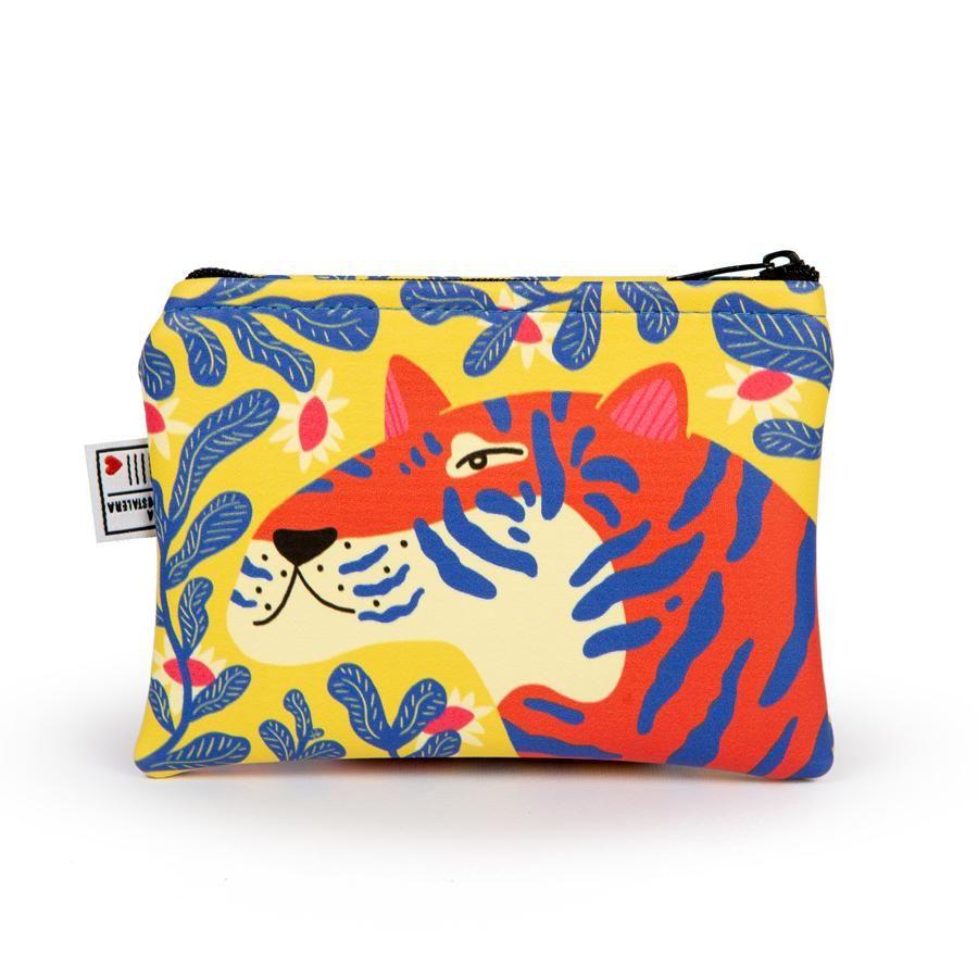 La Postalera: Eco-leather purse with Tiger design