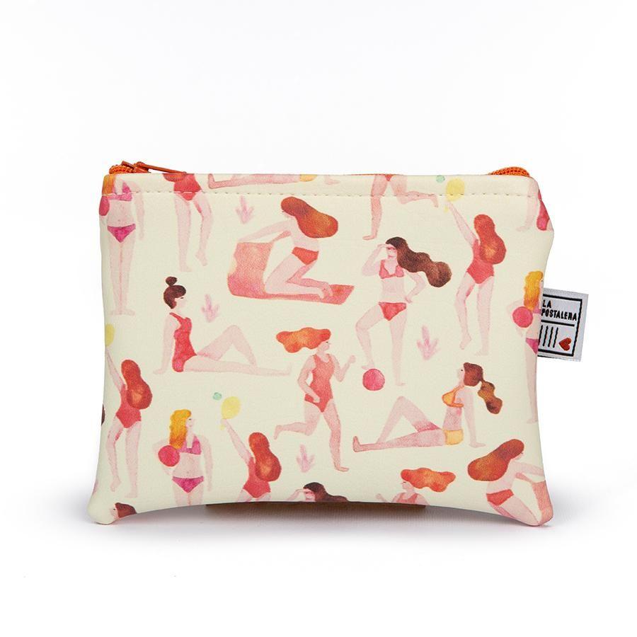 La Postalera: Eco-leather purse with Summer theme