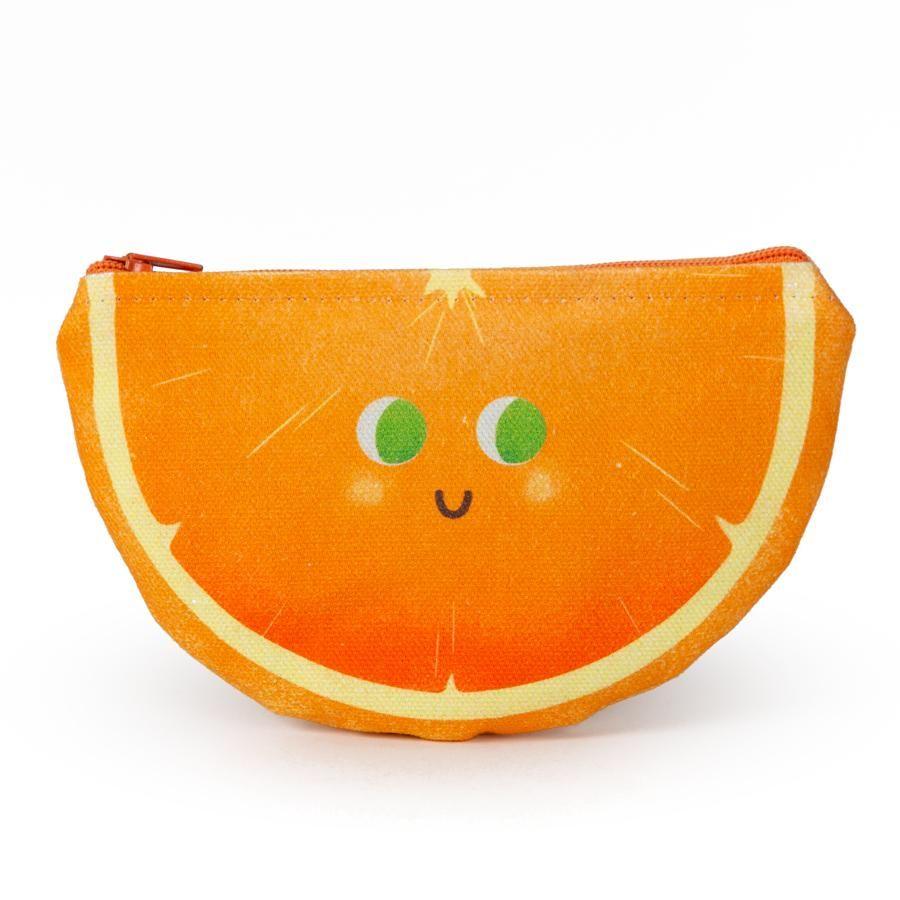 La Postalera: Printed Purse - Orange