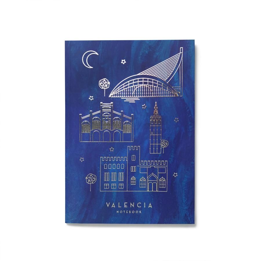 La Postalera: Notebook with Monuments of Valencia - Silver details