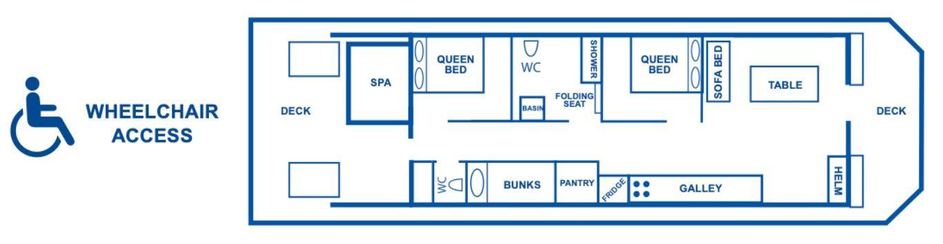 Emily Louise Houseboat Layout Plan