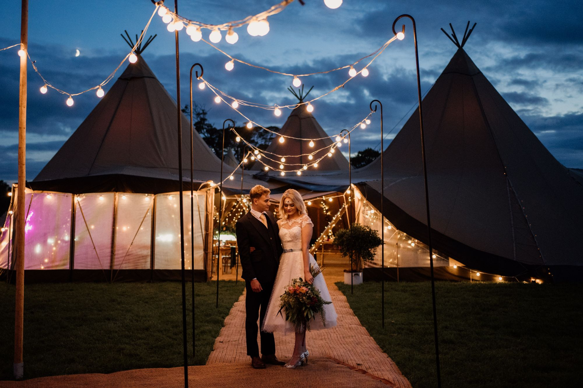 midlands tipi wedding