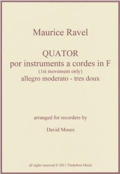 Ravel String Quartet in F (1st mvt.)