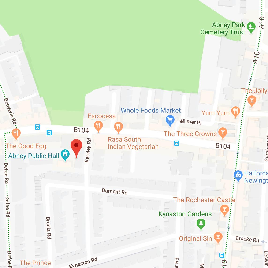 Little Wine Shop Stoke Newington map