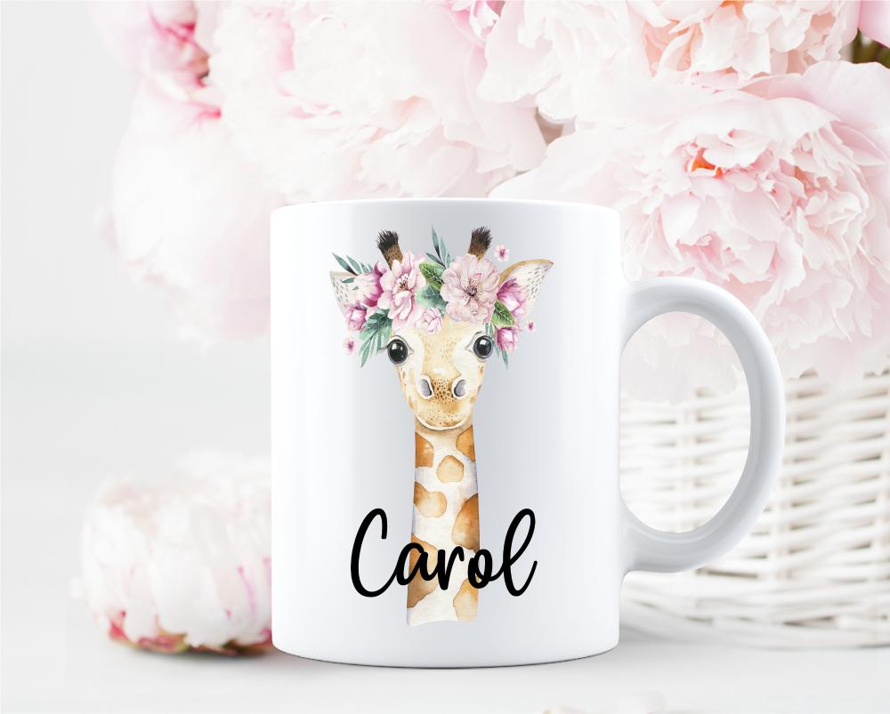 Personalised Giraffe Mug Gift