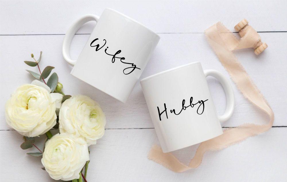 Wifey & Hubby Mug Gift