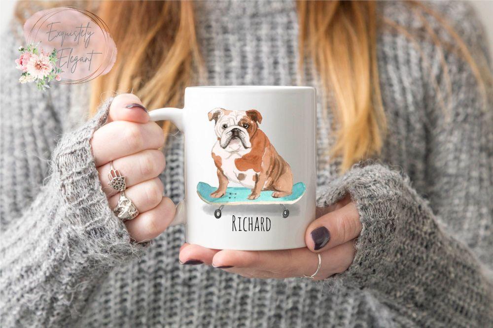 Personalised Bulldog Mug