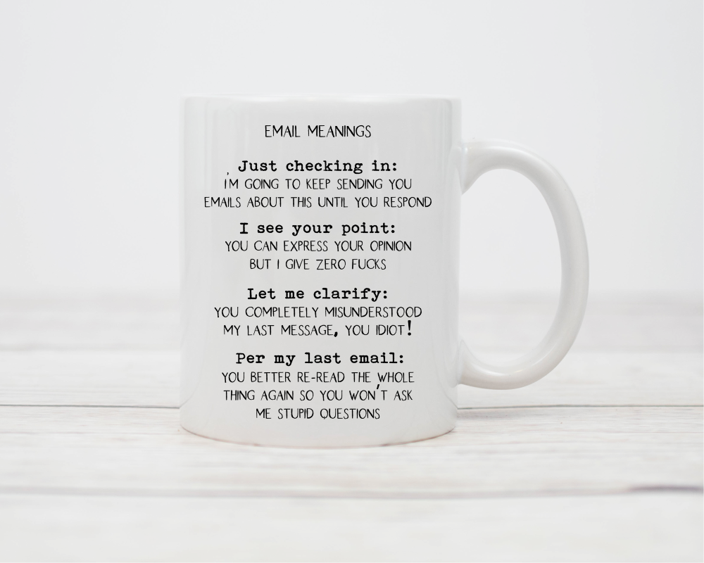 Funny Office Email Mug