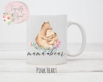 Mama Bear Mug with Pink Heart