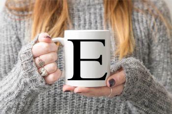Simple Initial Mug