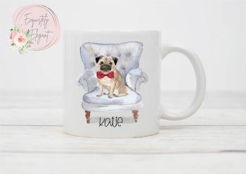 Pug on Chair Mug