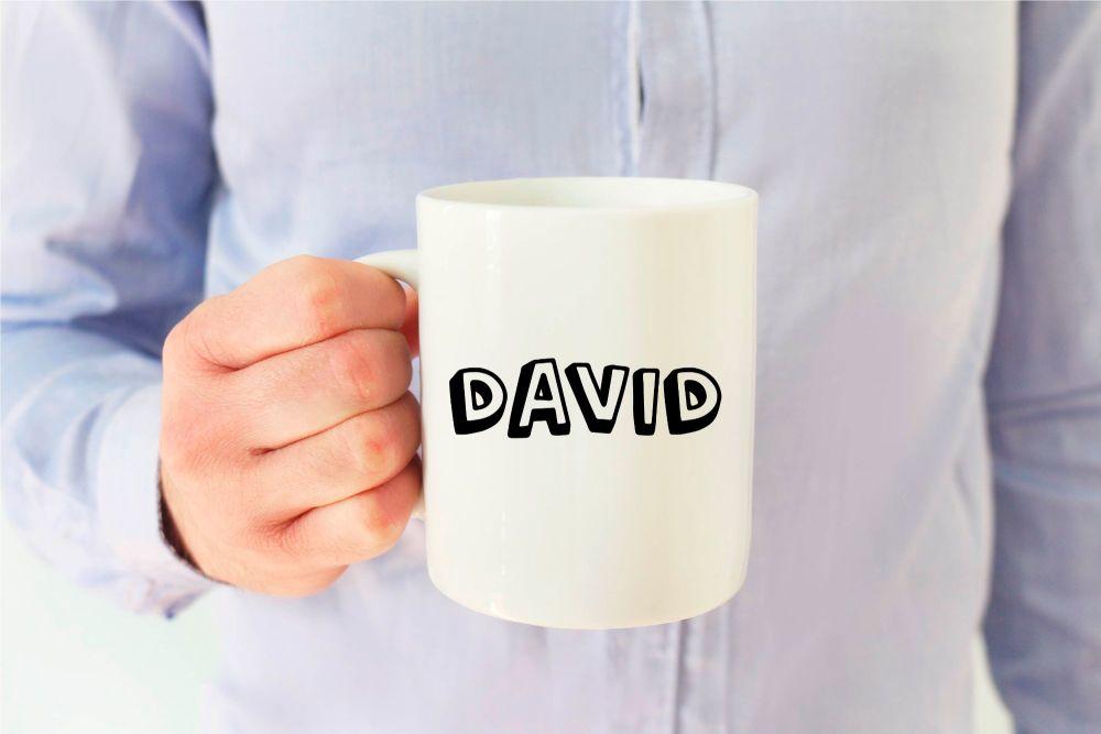 Block Name Mug