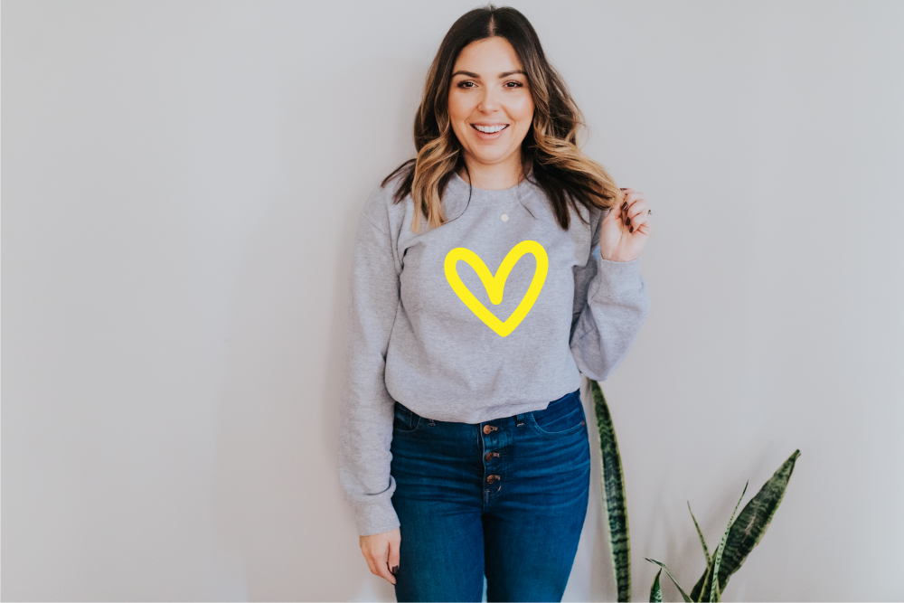 Big Love Heart Sweatshirt