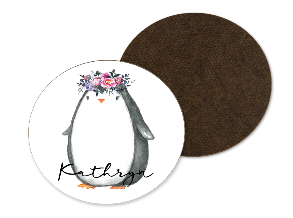 Floral Penguin Coaster