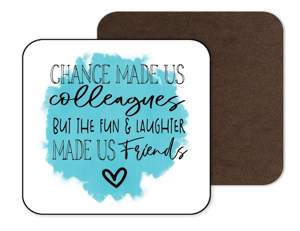 Work Office Coaster - Turquoise