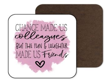 Work Office Coaster - Pink