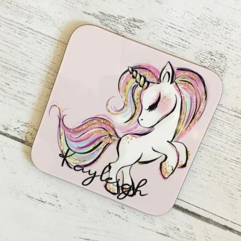 Pink Unicorn Coaster