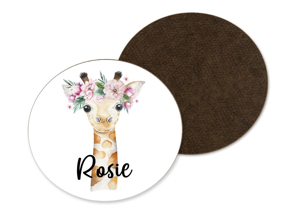 Floral Giraffe Coaster