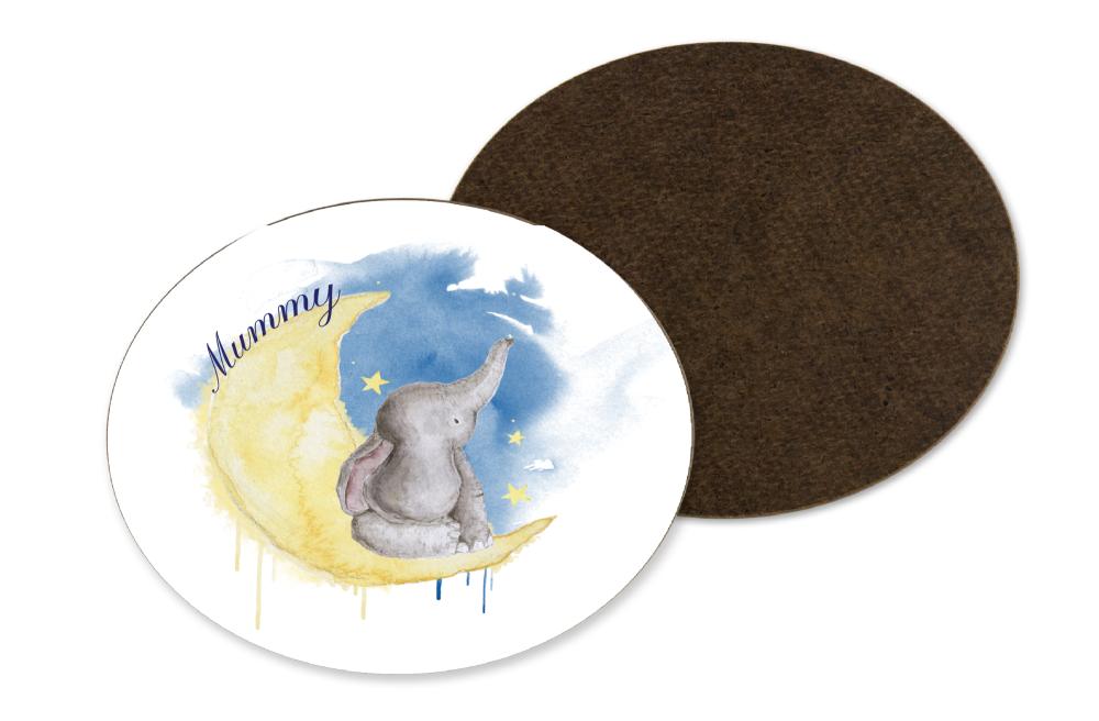 Elephant Moon Coaster