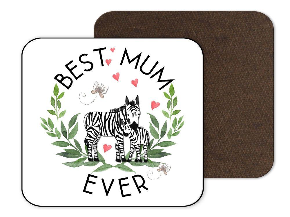 Best Mum Zebra Coaster