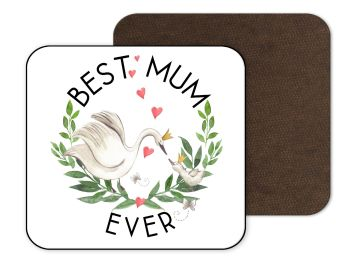 Best Mum Swan Coaster