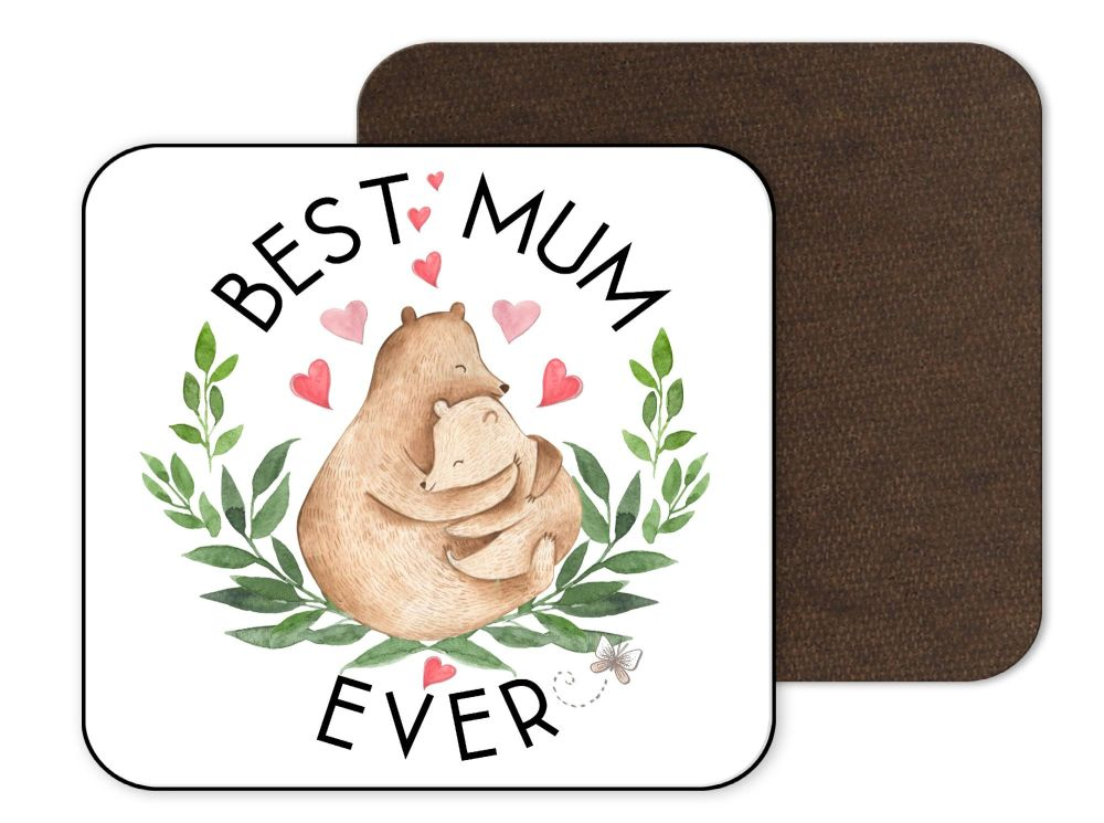 Best Mum Bear Coaster